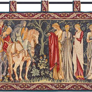 Knight and Ladies of Camelot with Loops French Tapestry
