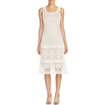 MICHAEL Michael Kors Womens Crochet Kint Sweaterdress