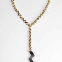 Zig Zag Necklace (Black/White) | Miss Wax | 80's Purple