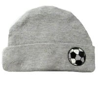 Baby Boys' Heather Gray Hat with Soccer Ball