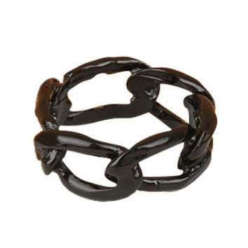 Liquorice Dipped Chain Link Ring