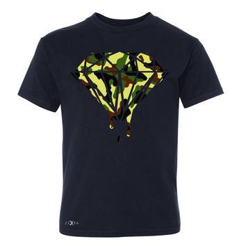 Zexpa Apparel™ Soldier Camo Diamond Dripping Bleeding Youth T-shirt Cool  Tee