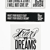 To Write Love on Her Arms Official Online Store - Fears vs Dreams Sticker Pack