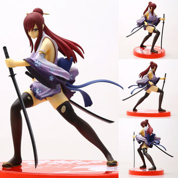 Fairy Tail  Erza Scarlet Doll 1/7 scale painted PVC Action figure Sexy Cute Girl collectible Model Toys Anime