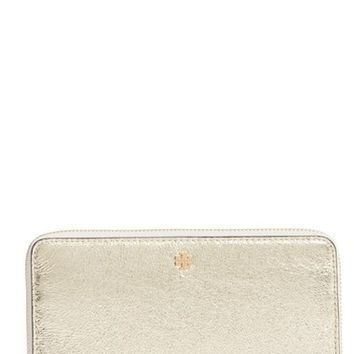 Tory Burch Metallic Leather Continental Wallet | Nordstrom