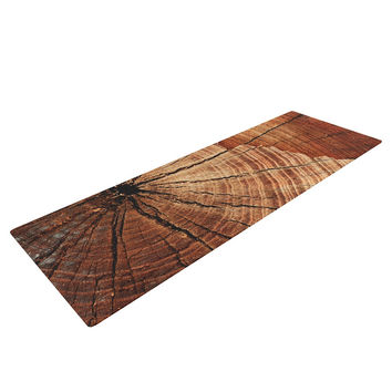 "Susan Sanders ""Rustic Dream"" Brown Wood Yoga Mat"