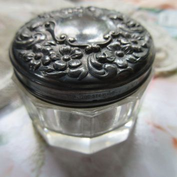 Victorian Sterling Patch Pot Dresser Jar