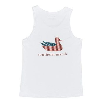 Authentic Flag Tank in White by Southern Marsh