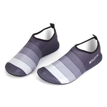 Men Women Couple Water Shoes Men Striped Beach Pool Dance Swim Surf Yoga Shoes New