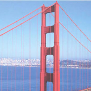 Golden Gate Bridge San Francisco Mini Poster 12x36
