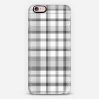 Gray Plaid iPhone 6s case by Lisa Argyropoulos | Casetify
