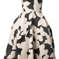 LANVIN butterfly print prom dress