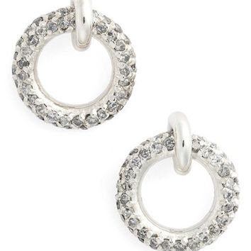 Meadowlark 'Pavé Halo' Grey Diamond Stud Earrings | Nordstrom