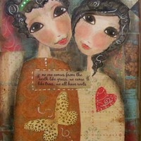 SISTERS- We All Have ROOTS 5x7 ART Card Print | Luulla