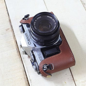 CANON AE-1 AE-1p a-1 leather cameras case, Canon Special Case, Brown Leather Camera Case, customized camera bag