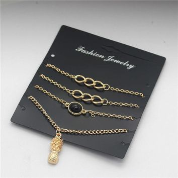 New Arrival Gift Shiny Awesome Great Deal Stylish Accessory Simple Design Beach Chain Set Hot Sale Bracelet [1292354093123]