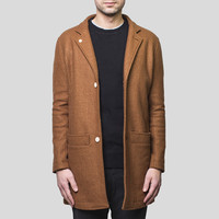 Banker Trench Coat / Brown Wool