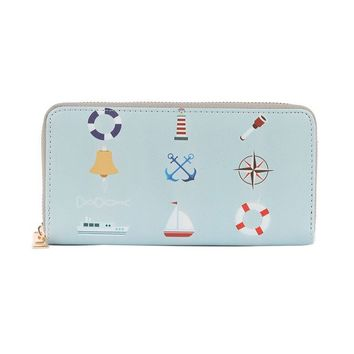 Nautical Print Vinyl Clutch Wallet Bag Accessory 352