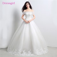 Luxurious Vestido De Noiva 2017 Wedding Dresses Ball Gown Cap Sleeves Tulle Bedaed Lace Cheap Boho Wedding Gown Bridal Dresses