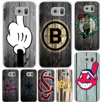 Lavaza Dallas Cowboys Wood Hard Phone Case for Samsung Galaxy S6 S7 Edge S8 S9 Plus S3 S4 S5 Cover Shell