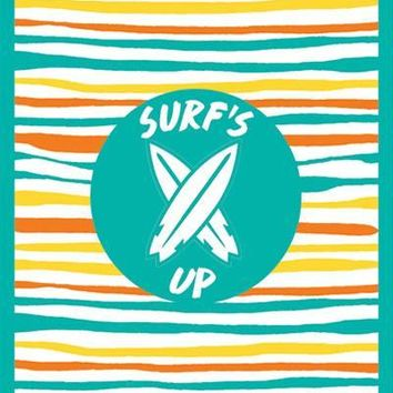 Surf's up: A revolutionary beach towel With Water-Resistant Pocket, lightweight, Thin, Compact and even more (Blue)