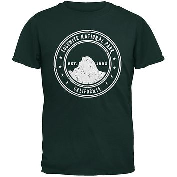 Yosemite National Park Forest Green Adult T-Shirt