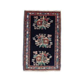 """Vintage Persian Afshar Hand Knotted Wool Rug 2' 1"""" X 3' 4"""""""