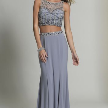 Beaded Two-Piece Gown by Dave and Johnny
