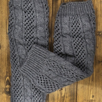 Charcoal Knitted Leg Warmers