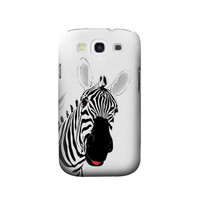 P0883 Hello Zebra Case Cover For Samsung Galaxy S3