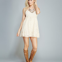 Crocheted Hippie Dress | Wet Seal