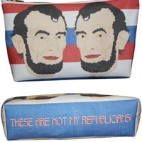 Abraham Lincoln Makeup Bag – Illustrated and Handmade in the USA