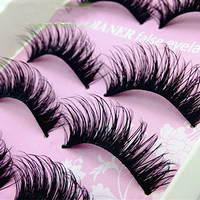 5Pair Thick Fake Eyelashes Natural False Eyelashes Volume Lashes Artificial Eyelashes Extensions False Lashes Makeup Lashes
