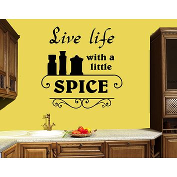 Wall Decal Kitchen Quote Words Decor Spices Cafe Cooking Vinyl Sticker (ed1468)