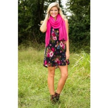 Nothing But Flowers Dress-Navy