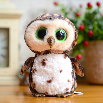 Original Ty Beanie Boos Big Eyes Kids Plush Toys Snow White Owl Lovely Children Gifts Cute Stuffed Animals Dolls Factory Price