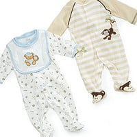 Little Me Baby Boys Sleeper, Monkey or Teddy - Kids Baby Boy (0-24 months) - Macy's
