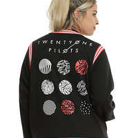 Twenty One Pilots Logo Girls Varsity Jacket Plus Size