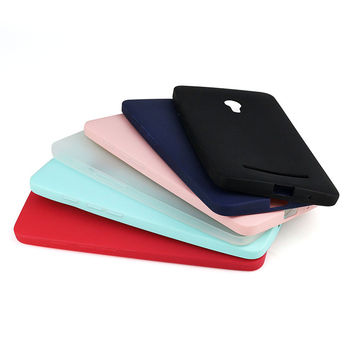Solid Candy Color TPU Rubber Case Cover for Asus Zenfone 5 Silicon Case Glossy Back Cover for Asus 5 Skin