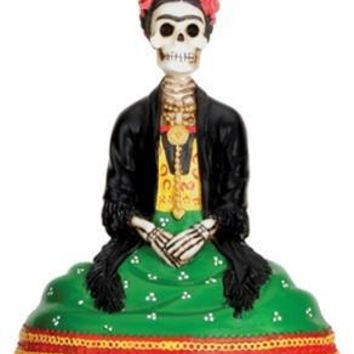 Female Skeleton Day of the Dead Statue 4H