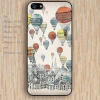 iPhone 5s 6 case watercolor  hot air balloon up colorful phone case iphone case,ipod case,samsung galaxy case available plastic rubber case waterproof B518
