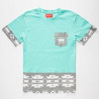Ayc Hawkeye Mens Pocket Tee Aqua  In Sizes