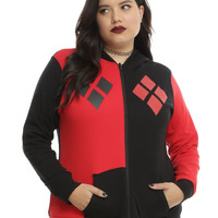DC Comics Harley Quinn & The Joker Reversible Hoodie Plus Size