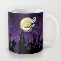 Halloween Purple Sky with jack skellington iPhone 4 4s 5 5c, ipod, ipad, pillow case tshirt and mugs Mug by Three Second