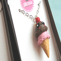 kawaii double scoop ice cream necklace