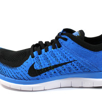 Nike Men's Free 4.0 Flyknit Black/Photo Blue Running Shoes 631053 002