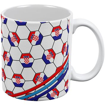 World Cup Croatia Soccer Ball All Over Coffee Mug