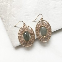 Semi Precious Earthy Dangle Earrings