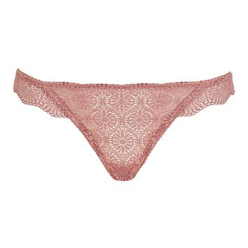 Geo Lace Thong | Topshop
