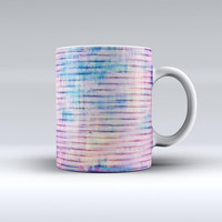 The Dripping Blue Paint ink-Fuzed Ceramic Coffee Mug
